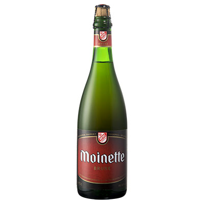 5410702000218 Moinette Brune - 75cl Bier met nagisting in de fles