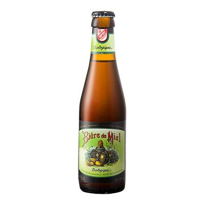 5410702001208 Bière de Miel Bio<sup>1</sup> - 25cl Biologish bier met nagisting in de fles (controle BE-BIO-01)