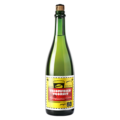 5410702001352 Triomfbier Vooruit<sup>1</sup> - 75cl Bottle conditioned organic beer (control BE-BIO-01)